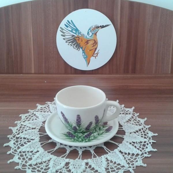 Cappuccino csésze és tányér/db